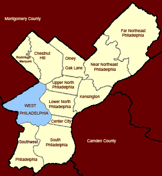 West Philly Map
